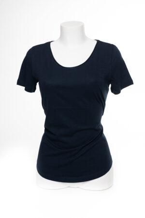 Basic T-Shirt, schwarz